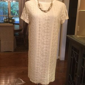 Glam dress ivory in size small